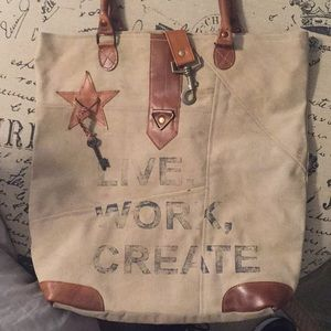 Mona B Canvas Tote Bag/Purse